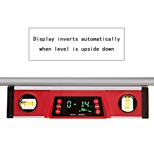 10 Inch Torpedo Level and Protractor-IP54 Dustproof Digital Magnetic Level Tool