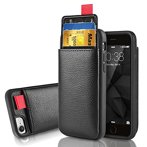 100% authentic f319d 5a8a2 LAMEEKU iPhone 8 Wallet Case, iPhone 7 Leather Case, Shockproof iPhone 7  case with ID Credit Card Slot Holder Money Pocket, Protective Cover for  Apple ...