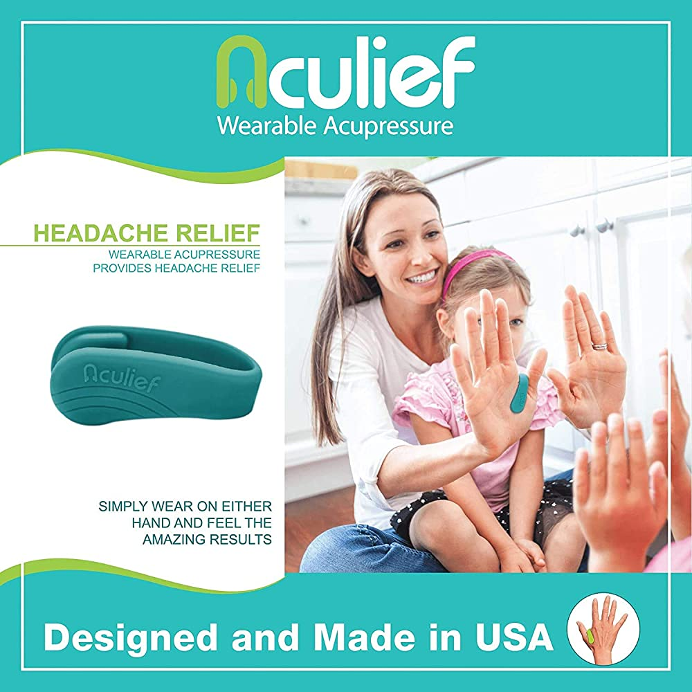 Buy Aculief Wearable Acupressure for Headache and Migraine ...