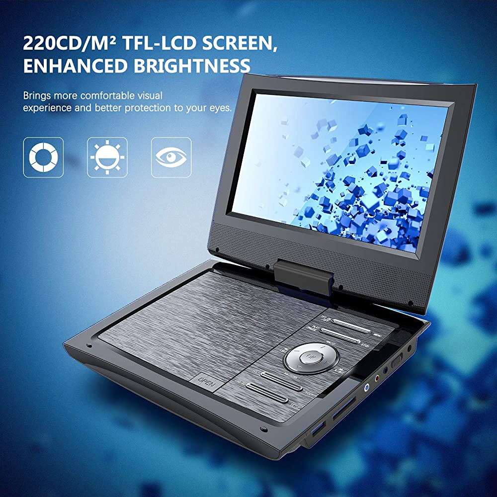 "SUNPIN 11"" Portable DVD Player for Car and Kids with 9.5 ..."