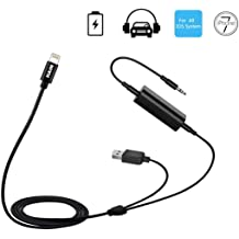 Car AMI AUX Charging Cable Compatible with iX i8 i7 i6 Plus for Select MB Models Media Interface Audio Adapter for Mercedes Benz 39 inch