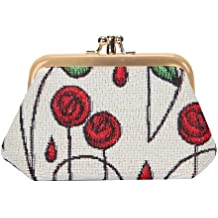 Signare Tapestry Women Glasses Pouch//Sunglasses Bag Spectacle Pouch Rennie Mackintosh Style Red Roses GPCH-RMSP