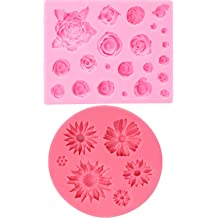Rose red GOMYIE 3D Chrysanthemums Soap Silicone Molds Candle Clay Mold Cake Fondant Chocolate Decoration Tools Cake Baking Molds