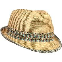 f5073cffd201 Funky Junque UPF50+ Adjustable Multicolor Woven Pattern Short Brim Fedora  Hat