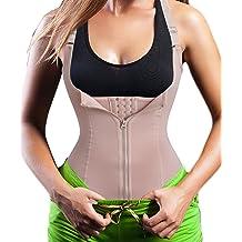 31f400834 Eleady Women  39 s Underbust Corset Waist Trainer Cincher Steel Boned Body  Shaper Vest